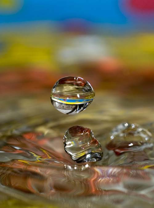 Красивые макро-снимки капель воды