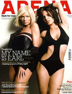 Jaime Pressly и Nadine Velazquez в журнале Arena UK