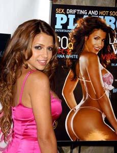 Vida Guerra на презентации июньского Playboy